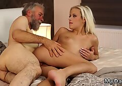Old granny fucks young girl Surprise your gf and she will pound with your dad