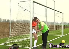 Curvy teen fucked Dutch football player humped by photographer