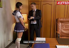 LETSDOEIT - French Schoolgirl Gets Ass Fucked In The Doctor's Office