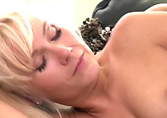 Girlfriends Blonde babes licks her girlfriends pussy on couch