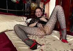 Vintage Lady With Pantyhose And Hairy Pussy