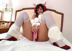 fucked hard with her toys