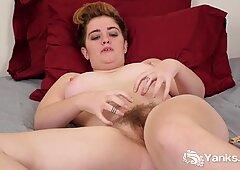 Horny Megan Fae Green Rubs Her Hairy Cunt
