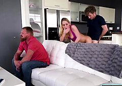 Carter Cruise fucking with her bf in the living room