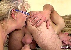 Blonde granny love poo