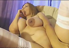 Busty Babe Masturbates In First Month Of Pregnancy