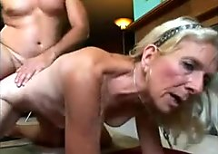 Skinny Wrinkly Hairy Old Tart Eats Cock