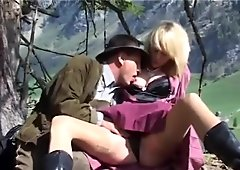 german MILF mountain anal