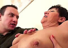 hot granny anal and blowjob