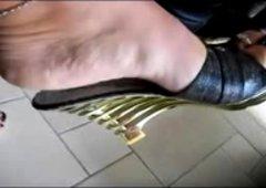 Beautiful Italian foot fetish scene