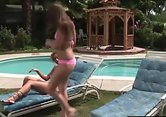 Poolside Afternoon Fuck For Hot Lesbos