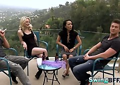 Swingers experience new sexy things in reality show