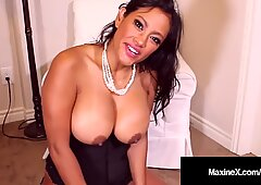 Cambodian Cougar Maxine X Mounts Sybian While Face Fucked!