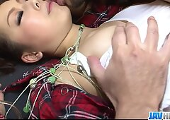 Pervert and skinny babe in pigtails bending over and screwed - More at javhd.net