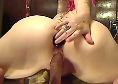 Hot girl playing with toys