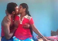 Indian junior couple - energetic sex act