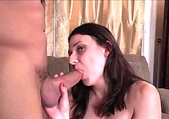 Hairy Amy Faye Rides Dick Cowgirl