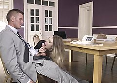 Incredible blonde secretary Tamara Grace gets fucked hard