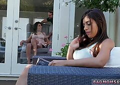 Wet milf hotel and mom massages duddy  ally in tub Family Love Triangle