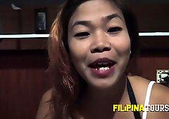 Asian cheap slut licks a white big cock like a candy cane - Candy White