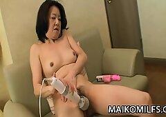 Junko Sakashita - ultra-kinky JAV Grandma Creampied By A youthfull man-meat