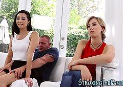Teen spunked by stepdad