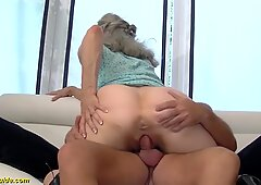 very first time tough sex for 92 years old grandma