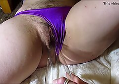 Bottle in Sexy Hairy Pussy
