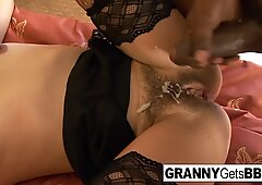 Mature sluts get jizzed on by BBC