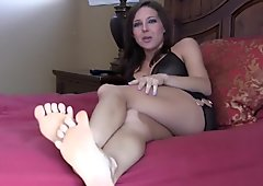 Put my perfect size 6 feet in your mouth