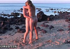 Amateur lesbos outdoors