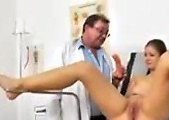 Natural busty Jennifer Amton at fetish clinic