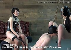 Japanese BDSM Spanking and Cunnilingus while Hanging Suspend