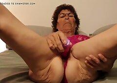Mature Granny using Vibrator