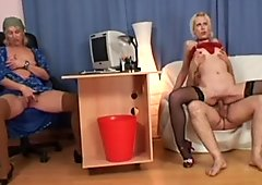 Pale but hot filthy nympho Kristyna B gonna have threesome for orgasm